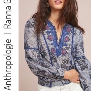 NWOT Anthropologie Ranna Gill Sisario Peasant Top